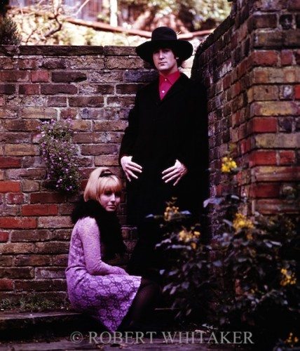 John&Cynthia at home in Weybridge, 1965