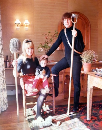 John, Cynthia & Julian at home in Weybridge, 1965